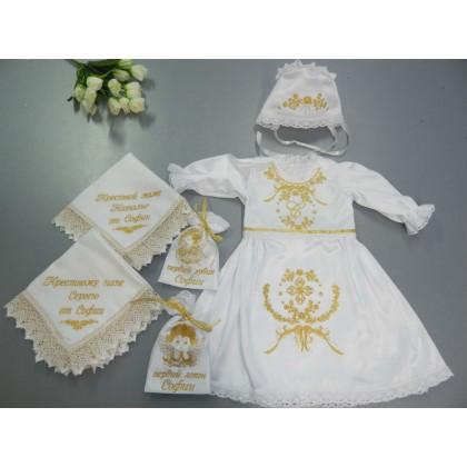 Комплект крестильной одежды для девочки «Софочка»
