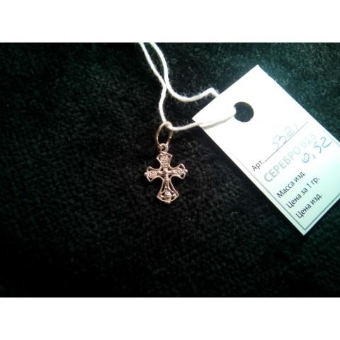 Крестик серебряный. Артикул: 5321