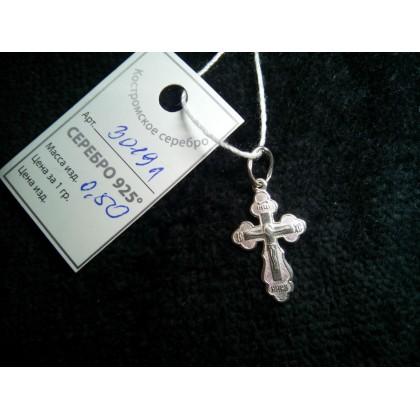 Крестик серебряный. Артикул: 3019а