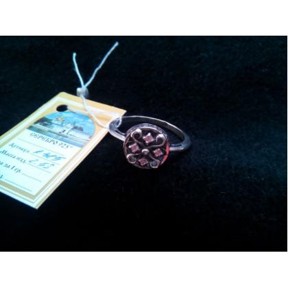 Кольцо серебряное с фианитом. Артикул: К485.